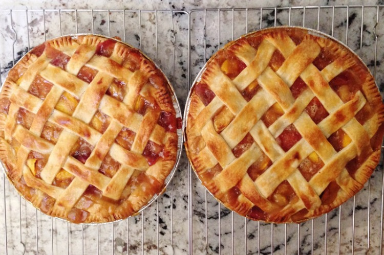 Stone fruit pies
