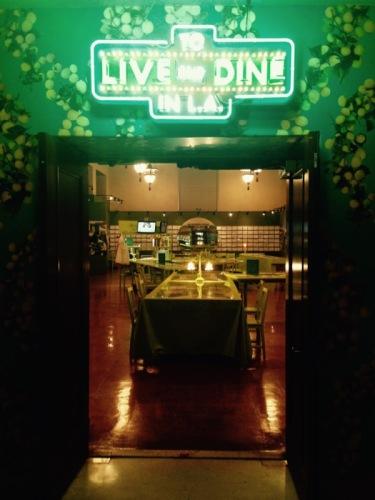 live and dine in LA