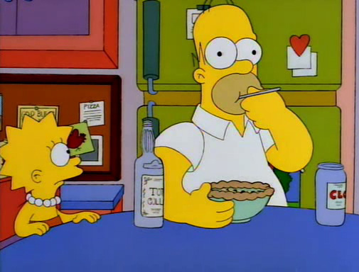Simpsons Homer pie